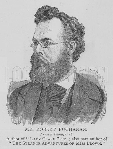 Mr Robert Buchanan. Illustration for The Picture Magazine, 1895.