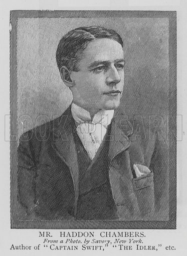 Mr Haddon Chambers. Illustration for The Picture Magazine, 1895.