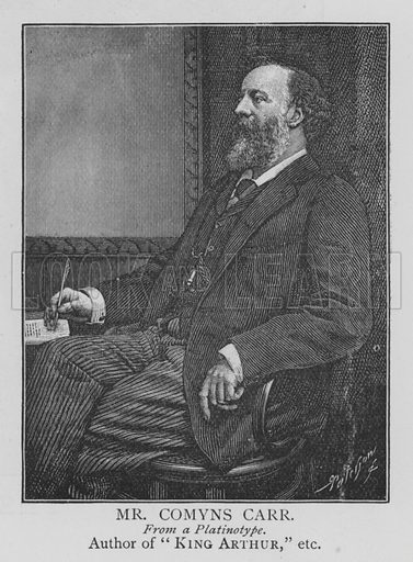 Mr Comyns Carr. Illustration for The Picture Magazine, 1895.