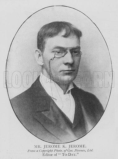Mr Jerome K Jerome. Illustration for The Picture Magazine, 1895.