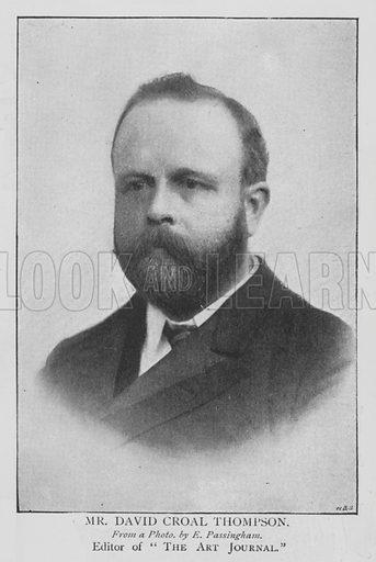 Mr David Croal Thompson. Illustration for The Picture Magazine, 1895.