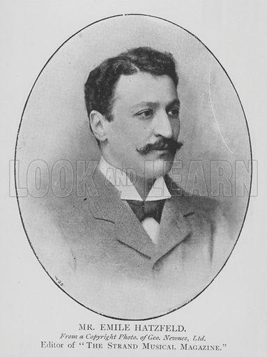 Mr Emile Hatzfeld. Illustration for The Picture Magazine, 1895.