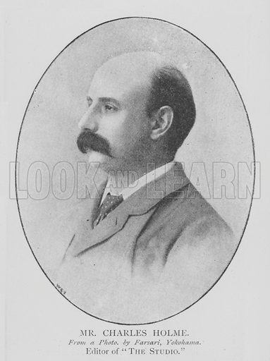 Mr Charles Holme. Illustration for The Picture Magazine, 1895.