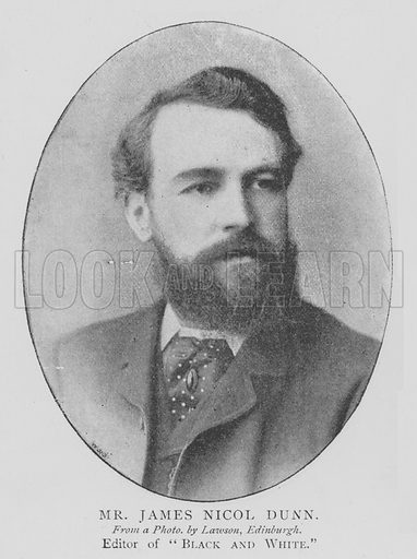 Mr James Nicol Dunn. Illustration for The Picture Magazine, 1895.