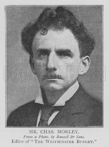 Mr Charles Morley. Illustration for The Picture Magazine, 1895.