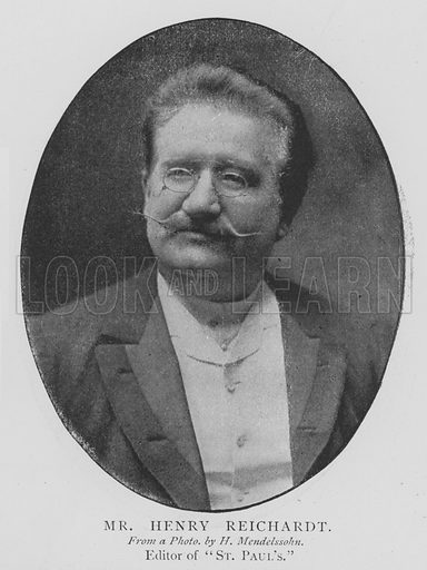 Mr Henry Reichardt. Illustration for The Picture Magazine, 1895.