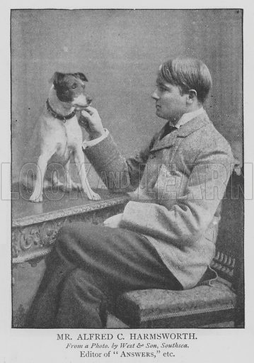 Mr Alfred C Harmsworth. Illustration for The Picture Magazine, 1895.