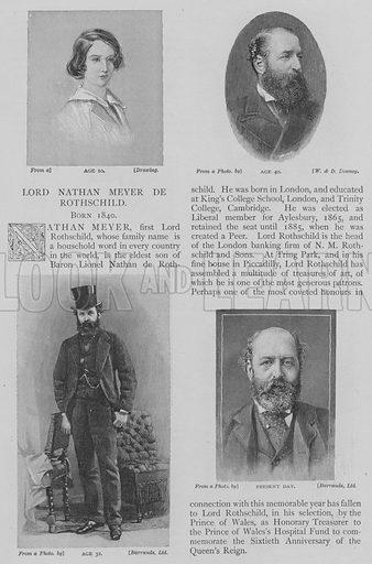 Lord Nathan Meyer de Rothschild. Illustration for The Strand Magazine, 1897.