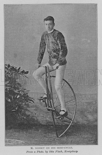 M Noiset on his Semi-Cycle. Illustration for The Strand Magazine, 1897.