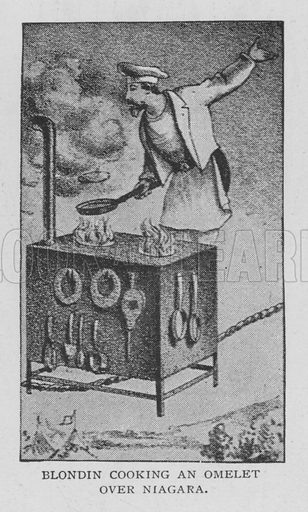 Blondin Cooking an Omelet over Niagara. Illustration for The Strand Magazine, 1897.