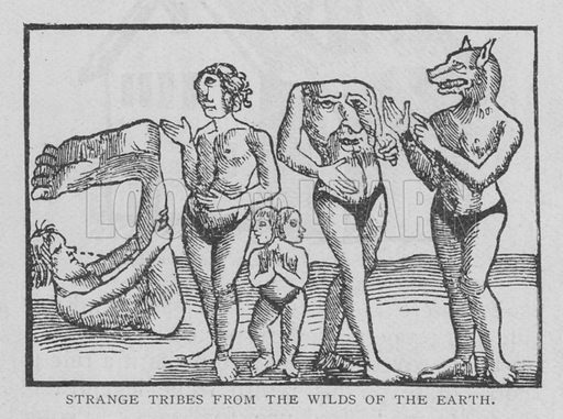 Strange Tribes from the Wilds of the Earth. Illustration for The Strand Magazine, 1897.