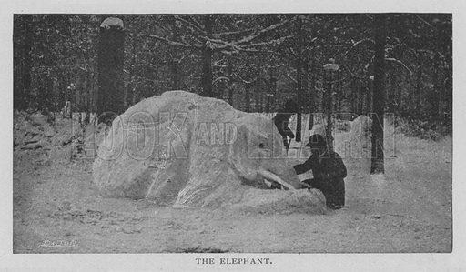 The Elephant. Illustration for The Strand Magazine, 1897.
