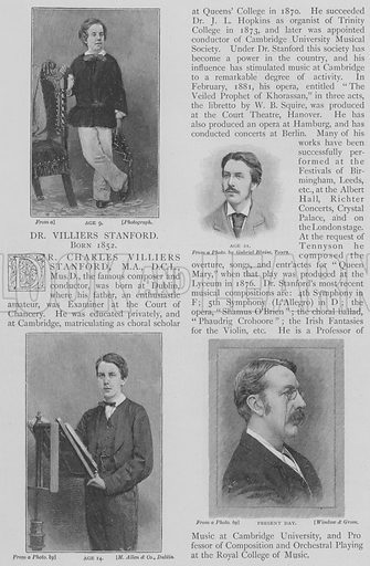 Charles Villiers Stanford. Illustration for The Strand Magazine, 1897.