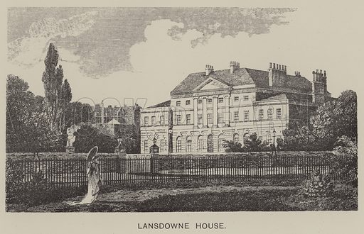 Lansdowne House. Illustration for Mayfair and Belgravia by George Clinch (Truslove and Shirley, 1892).