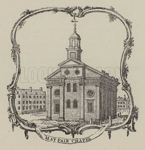 Mayfair Chapel. Illustration for Mayfair and Belgravia by George Clinch (Truslove and Shirley, 1892).