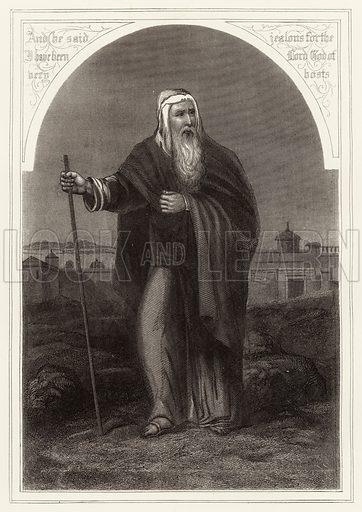 Elijah. Bible illustration from unidentified book.