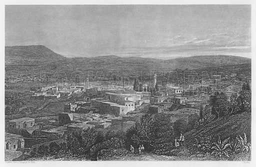 Nazareth. Bible illustration from unidentified book.
