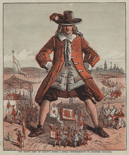 The Grand Army of Lilliput makes a great demonstration to astonish Gulliver