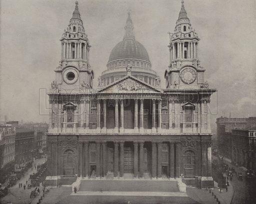 St Paul's Cathedral. Illustration for The Descriptive Album of London, A Pictorial Guide Book (Descriptive Album Publishing Company, c 1895).