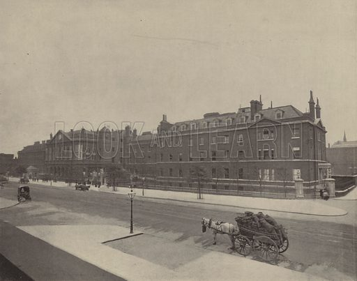 London Hospital. Illustration for The Descriptive Album of London, A Pictorial Guide Book (Descriptive Album Publishing Company, c 1895).