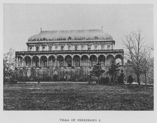Villa of Ferdinand I. Illustration for Tycho Brahe by JLE Dreyer (A & C Black, 1890).