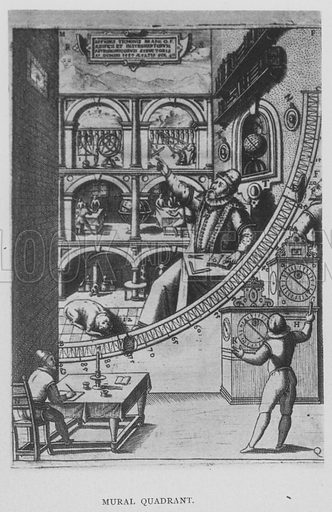 Mural Quadrant. Illustration for Tycho Brahe by JLE Dreyer (A & C Black, 1890).