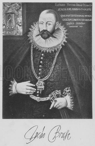 Tycho Brahe. Illustration for Tycho Brahe by JLE Dreyer (A & C Black, 1890).