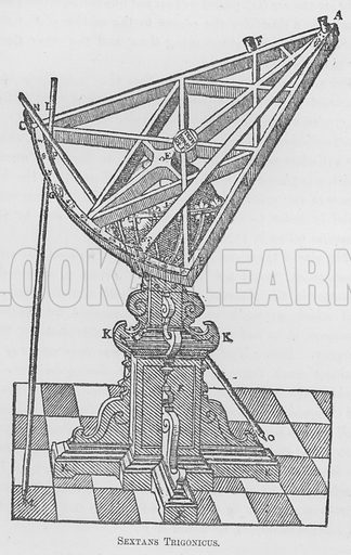 Sextans Trigonicus. Illustration for Tycho Brahe by JLE Dreyer (A & C Black, 1890).