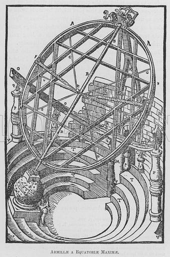 Armillae a Equatoriae Maximae. Illustration for Tycho Brahe by JLE Dreyer (A & C Black, 1890).