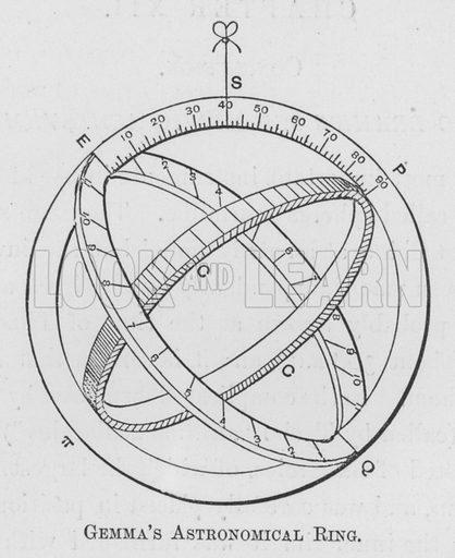 Gemma's Astronomical Ring. Illustration for Tycho Brahe by JLE Dreyer (A & C Black, 1890).