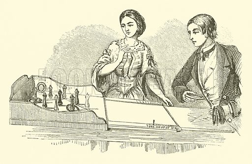 Ringolette, or Parlour Quoits. Illustration for The Boys's Own Book (Lockwood, 1861).