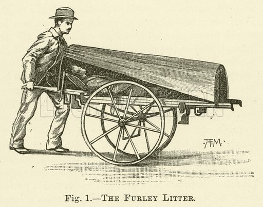 The Furley Litter. Illustration for Cassell's Book of the Household (Cassell, 1889).