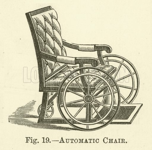 Automatic Chair. Illustration for Cassell's Book of the Household (Cassell, 1889).