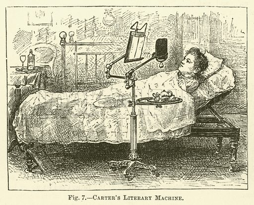 Carter's Literary Machine. Illustration for Cassell's Book of the Household (Cassell, 1889).