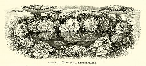Artificial Lake for a Dinner Table. Illustration for Cassell's Book of the Household (Cassell, 1889).
