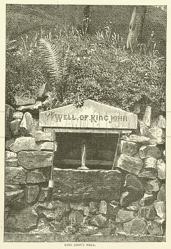 King John's Well. Illustration for The Monthly Chronicle of North-Country Lore and Legend, 1887.