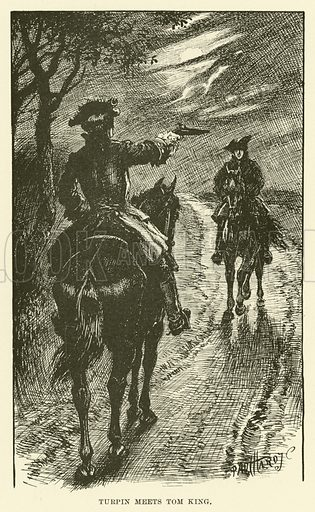 Turpin Meets Tom King. Illustration for Half-Hours with the Highwaymen by Charles Harper (Chapman and Hall, 1908).