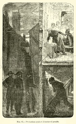 Protection against ill-natured people. Illustration for The Wonders of Optics by F Marion (Charles Scribner, 1872).