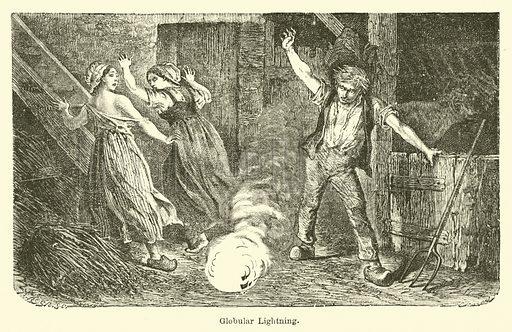 Globular Lightning. Illustration for Thunder and Lightning by W De Fonvielle (Charles Scribner, 1871).