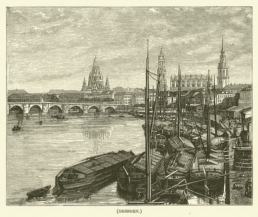 Dresden. Illustration for Wesley His Own Biographer, being selections from the journals of John Wesley (C H Kelly, 1891).