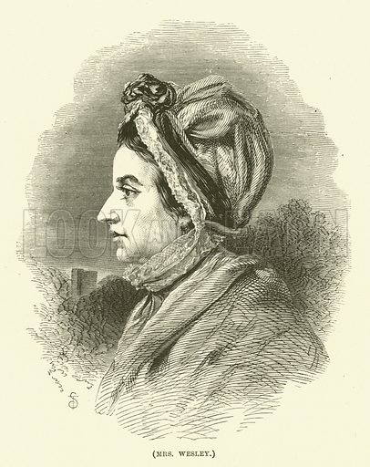 Mrs Wesley. Illustration for Wesley His Own Biographer, being selections from the journals of John Wesley (CH Kelly, 1891).