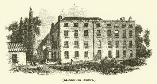 Kingswood School. Illustration for Wesley His Own Biographer, being selections from the journals of John Wesley (CH Kelly, 1891).
