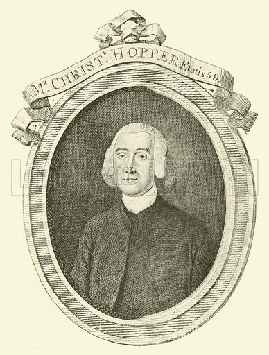 Mr Christopher Hopper, Etatis 59. Illustration for Wesley His Own Biographer, being selections from the journals of John Wesley (CH Kelly, 1891).