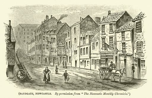 Sandgate, Newcastle. Illustration for Wesley His Own Biographer, being selections from the journals of John Wesley (CH Kelly, 1891).