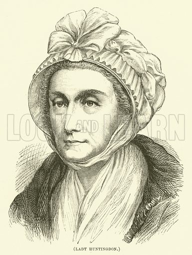 Lady Huntingdon. Illustration for Wesley His Own Biographer, being selections from the journals of John Wesley (CH Kelly, 1891).