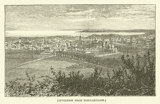 Inverness from Tomnahurich. Illustration for Wesley His Own Biographer, being selections from the journals of John Wesley (CH Kelly, 1891).