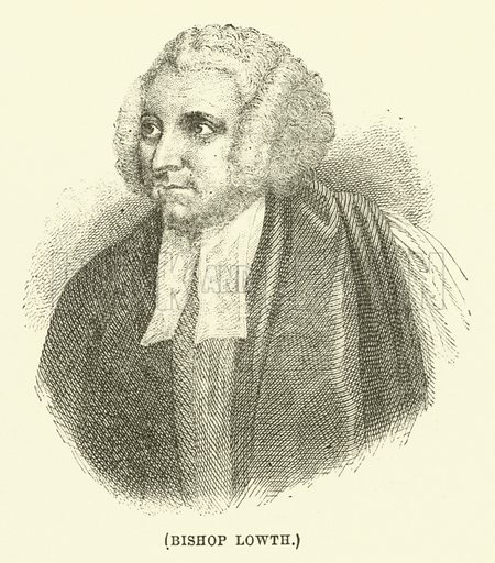 Bishop Lowth. Illustration for Wesley His Own Biographer, being selections from the journals of John Wesley (CH Kelly, 1891).