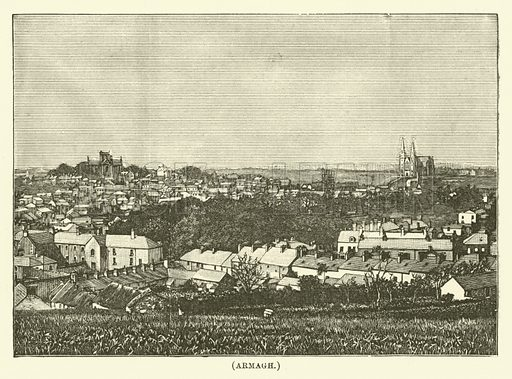 Armagh. Illustration for Wesley His Own Biographer, being selections from the journals of John Wesley (CH Kelly, 1891).