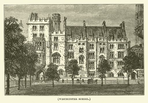 Westminster School. Illustration for Wesley His Own Biographer, being selections from the journals of John Wesley (CH Kelly, 1891).