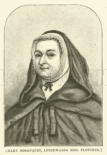 Mary Bosanquet, afterwards Mrs Fletcher. Illustration for Wesley His Own Biographer, being selections from the journals of John Wesley (CH Kelly, 1891).